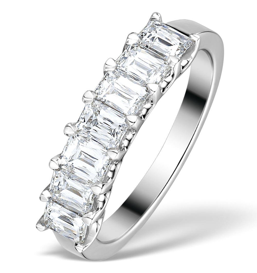 1.50CT IDEAL PRINCE CUT DIAMOND AND 18K WHITE GOLD H/SI RING FT54