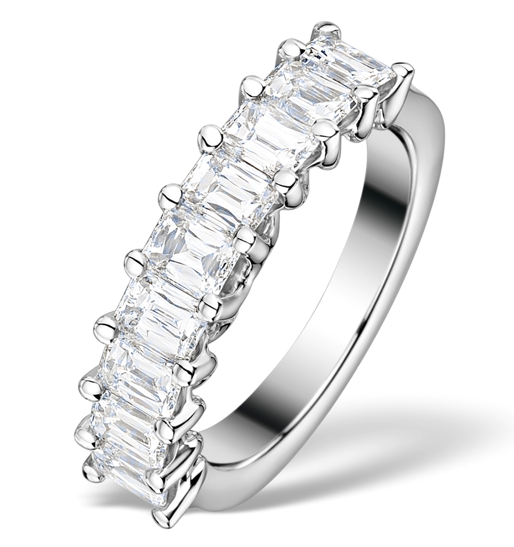 2.00CT IDEAL PRINCE CUT DIAMOND AND 18K WHITE GOLD H/SI RING