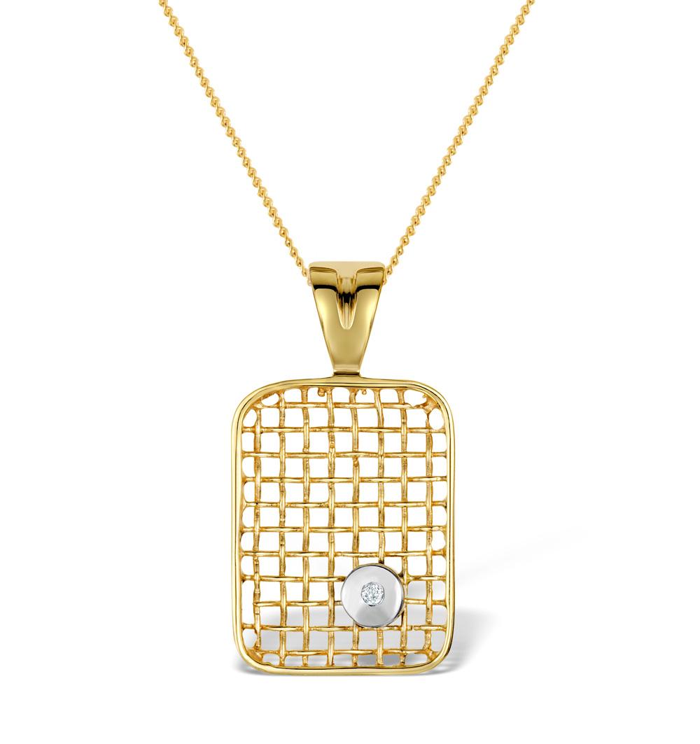 DIAMOND 0.02CT 9K GOLD PENDANT - RTC-G3319