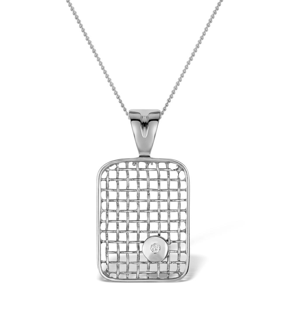 DIAMOND 0.02CT 9K WHITE GOLD PENDANT - RTC-G3319Y