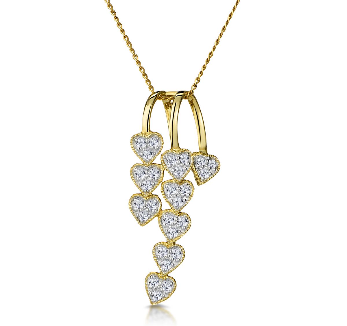 FANCY PENDANT 0.23CT DIAMOND 9K YELLOW GOLD