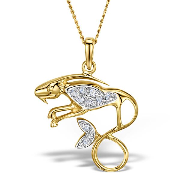 9k gold diamond capricorn pendant 006ct item g4990 9k gold diamond capricorn pendant 006ct aloadofball Choice Image