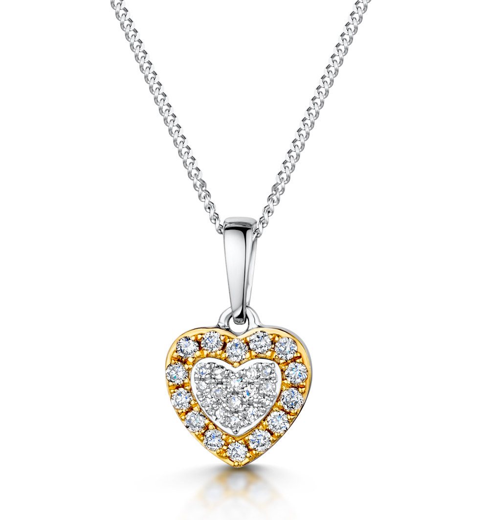 Diamond Stellato Pendant in 9K White Gold