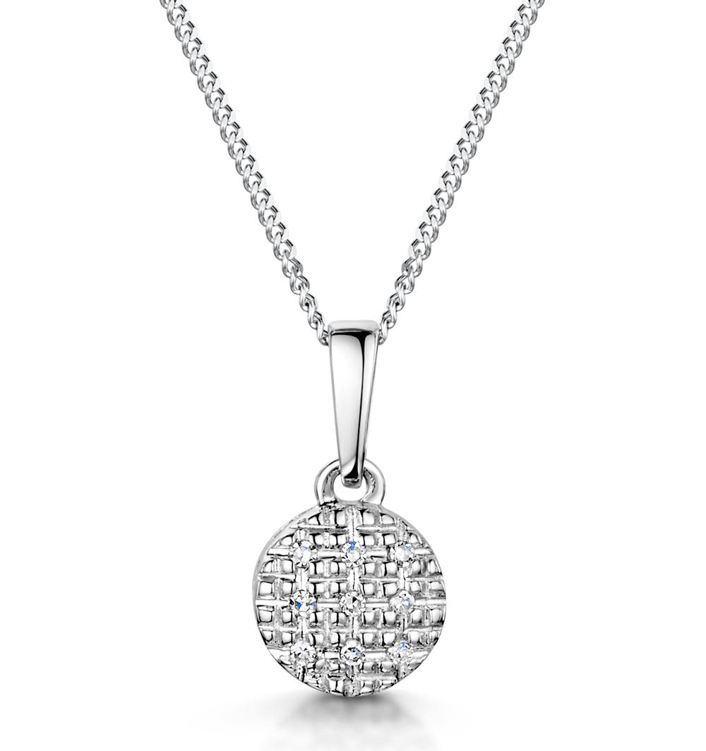STELLATO COLLECTION DIAMOND PENDANT IN 9K WHITE GOLD - G4094