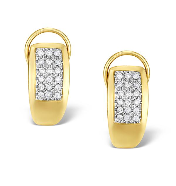 9K GOLD DIAMOND HUGGY CLUSTER EARRINGS