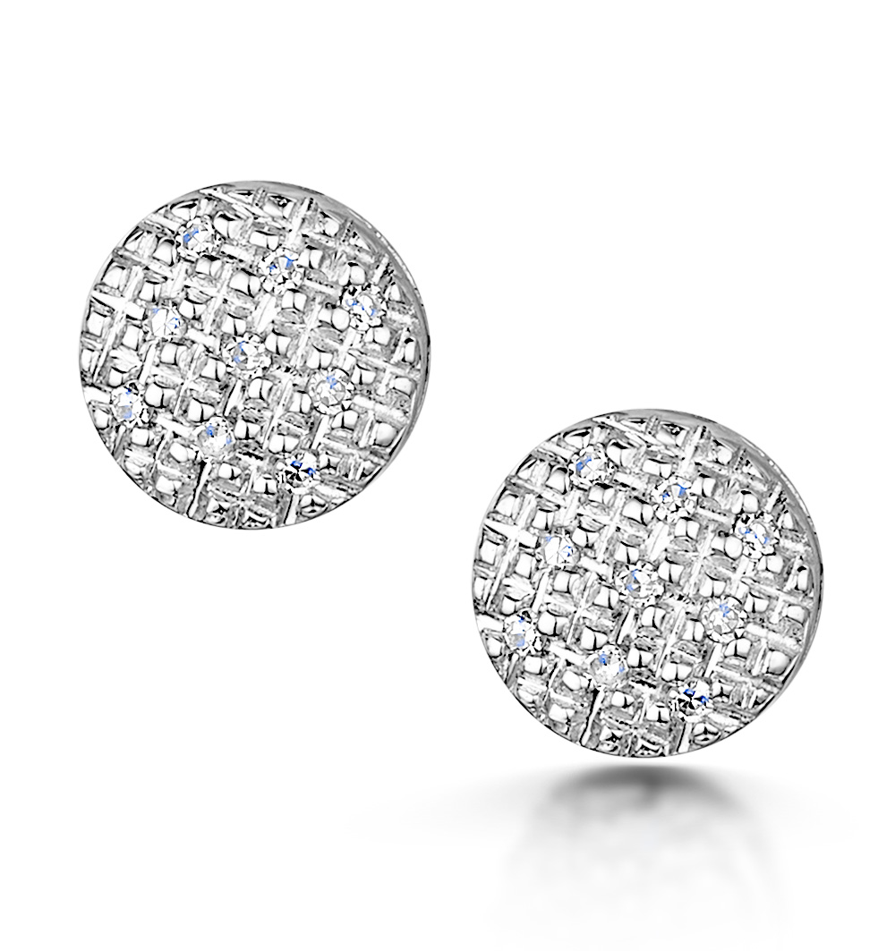 Stellato Collection Diamond Earrings 0.06ct in 9K White Gold - H4596
