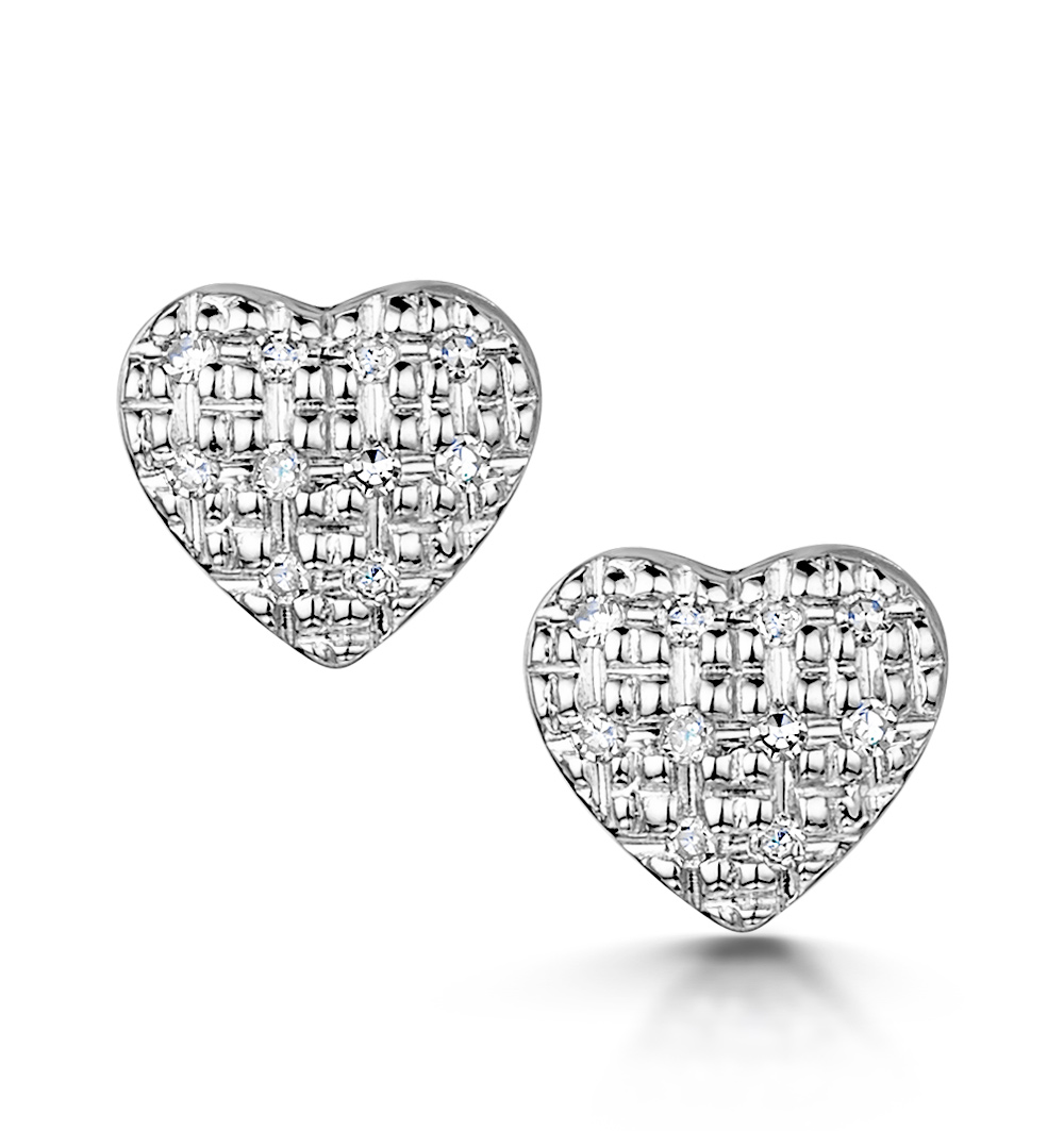 STELLATO COLLECTION DIAMOND EARRINGS 0.07CT IN 9K WHITE GOLD - H4597