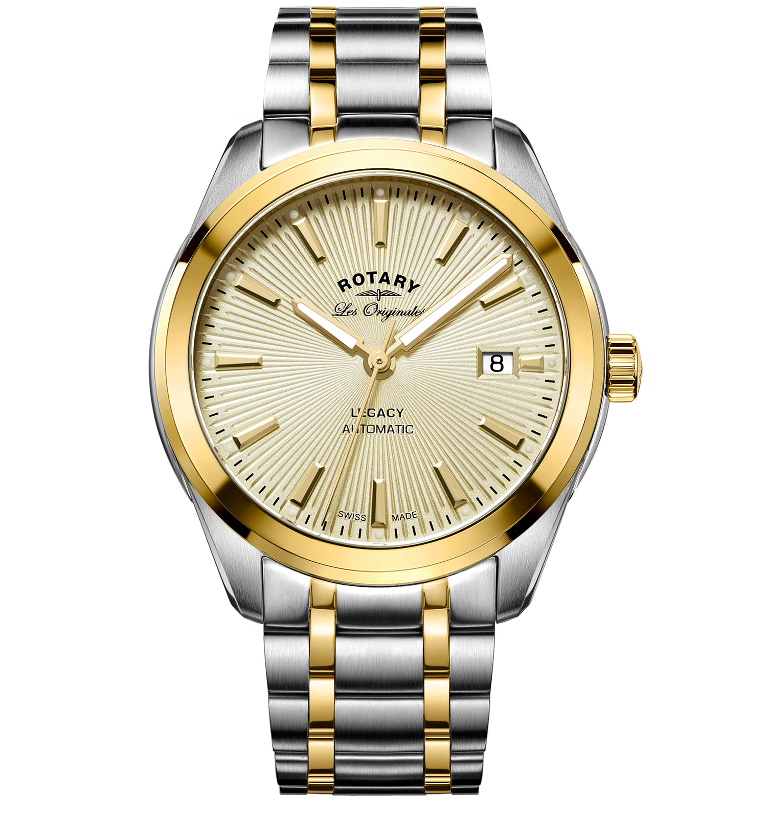 ROTARY LES ORIGINALES LEGACY AUTOMATIC SWISS GENTS WATCH