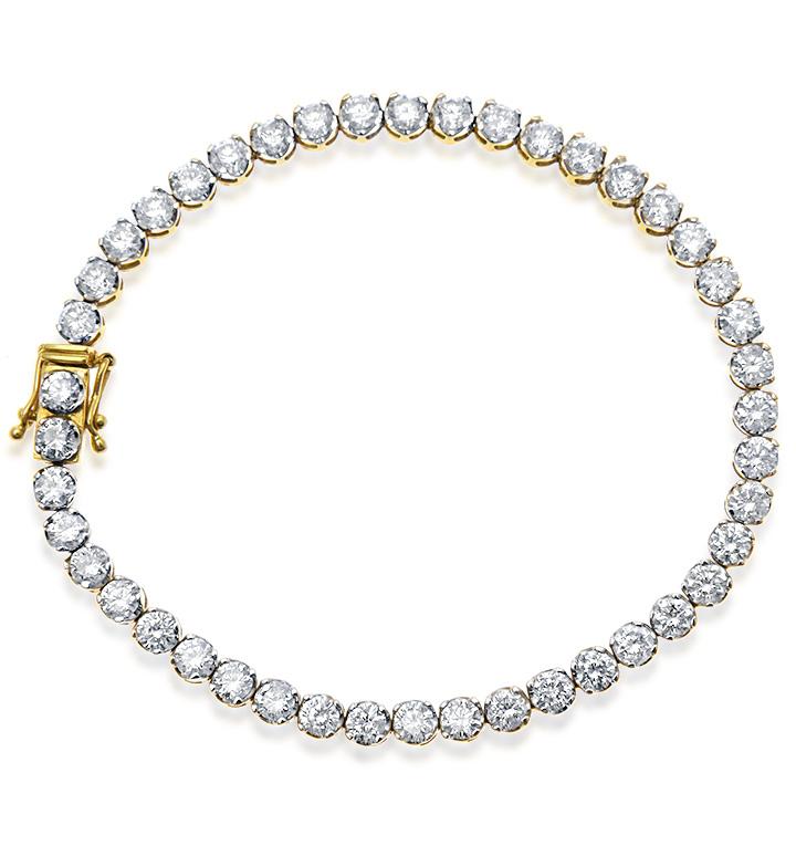 18K GOLD 6.25CT DIAMOND BRACELET