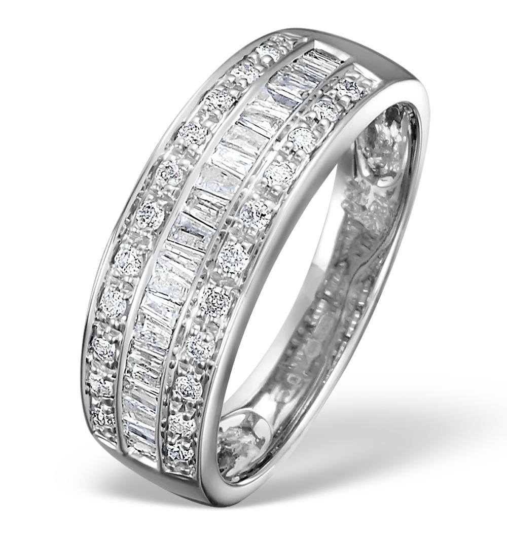 18K WHITE GOLD BRILLIANT H/SI DIAMOND RING