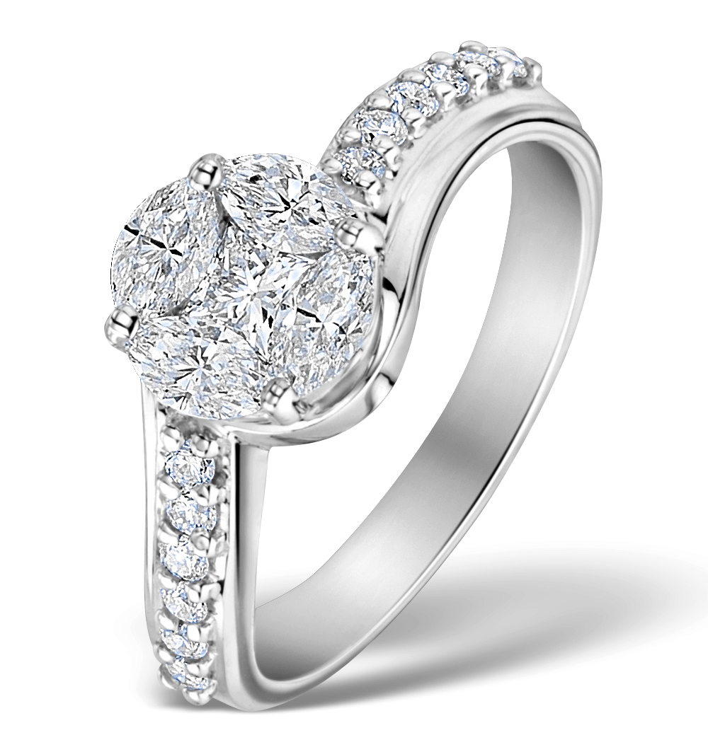 ENGAGEMENT RING GALILEO 2.00CT LOOK DIAMONDS 18K WHITE GOLD N4480