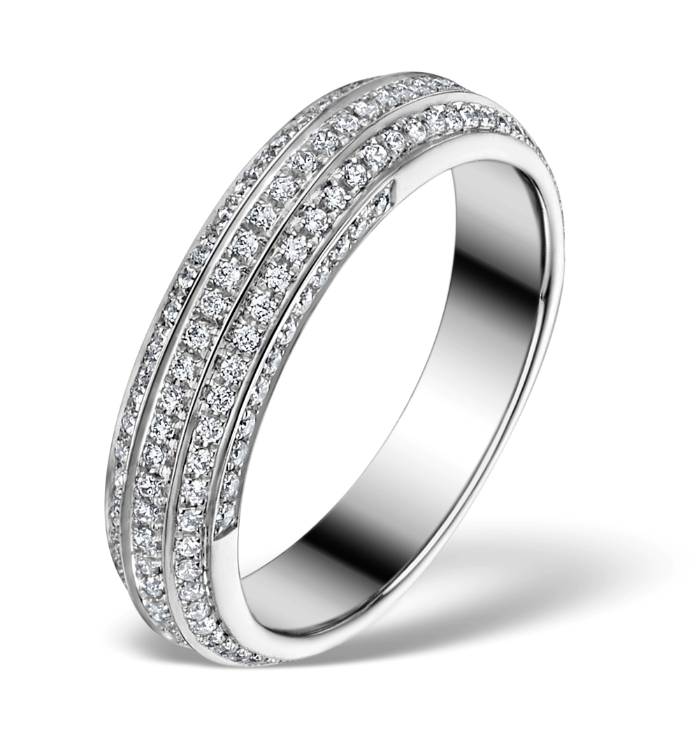 DIAMOND ETERNITY RING - COSMOPOLITAN - 0.53CT 18K WHITE GOLD - N4529