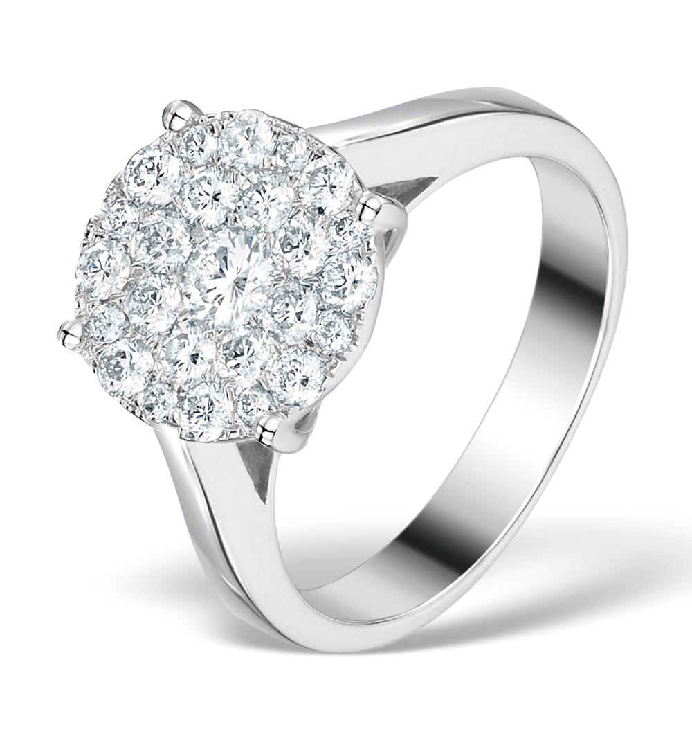 DIAMOND GALILEO RING 1CT SET IN 18K WHITE GOLD - N4532Y