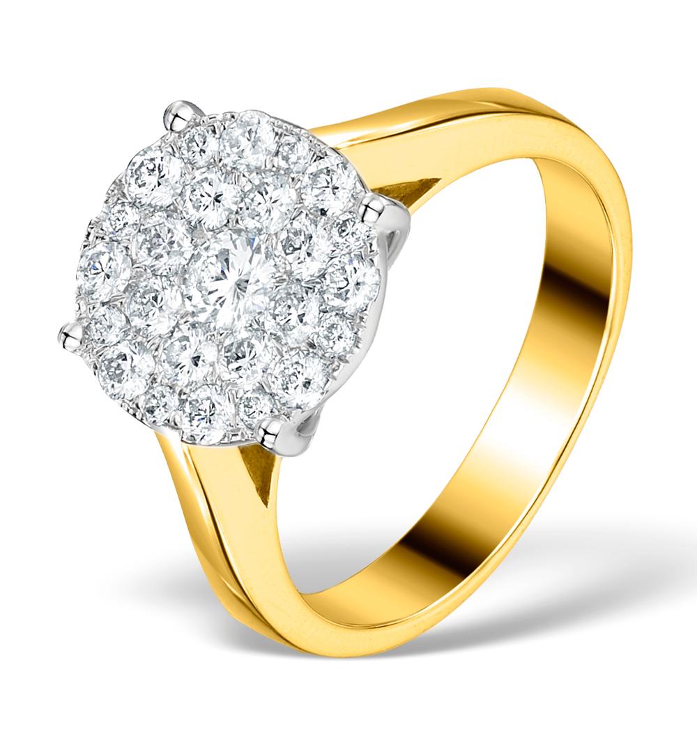 DIAMOND GALILEO RING 1CT SET IN 18K GOLD - N4532