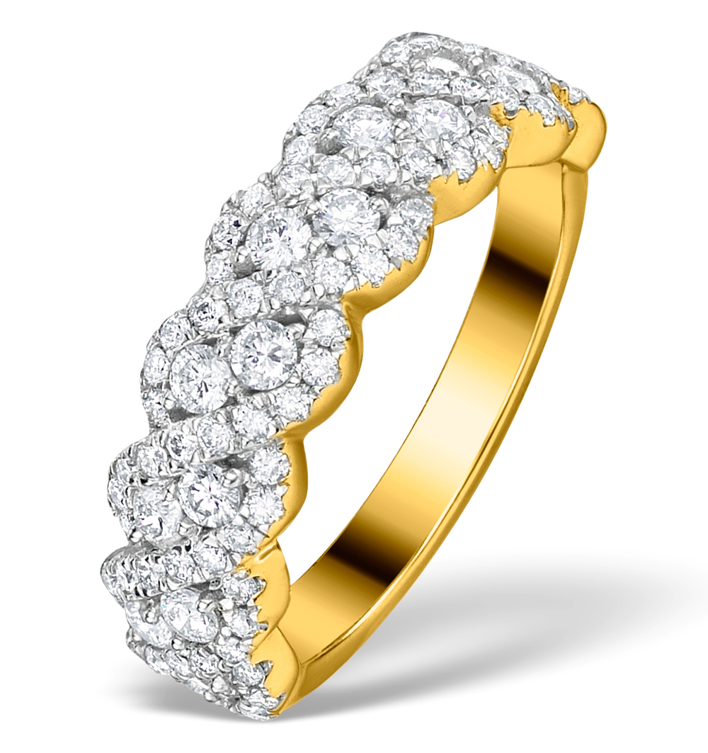 DIAMOND WEAVE RING 1CT H/SI IN 18K GOLD - N4545