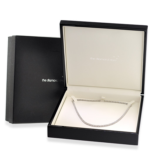 Silver Diamond Bar Design Necklace - UP3224 - Packaging