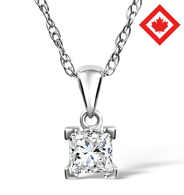 Olivia 18K White Gold Canadian Diamond Pendant 0.50CT H/SI2