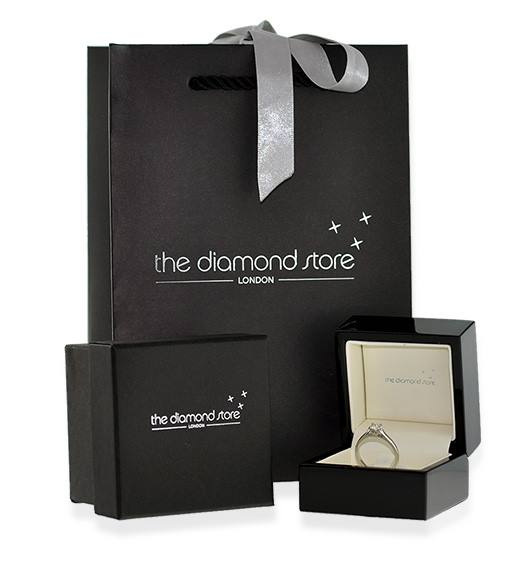 Trilogy Necklace 0.13CT Diamond 9K White Gold - Packaging