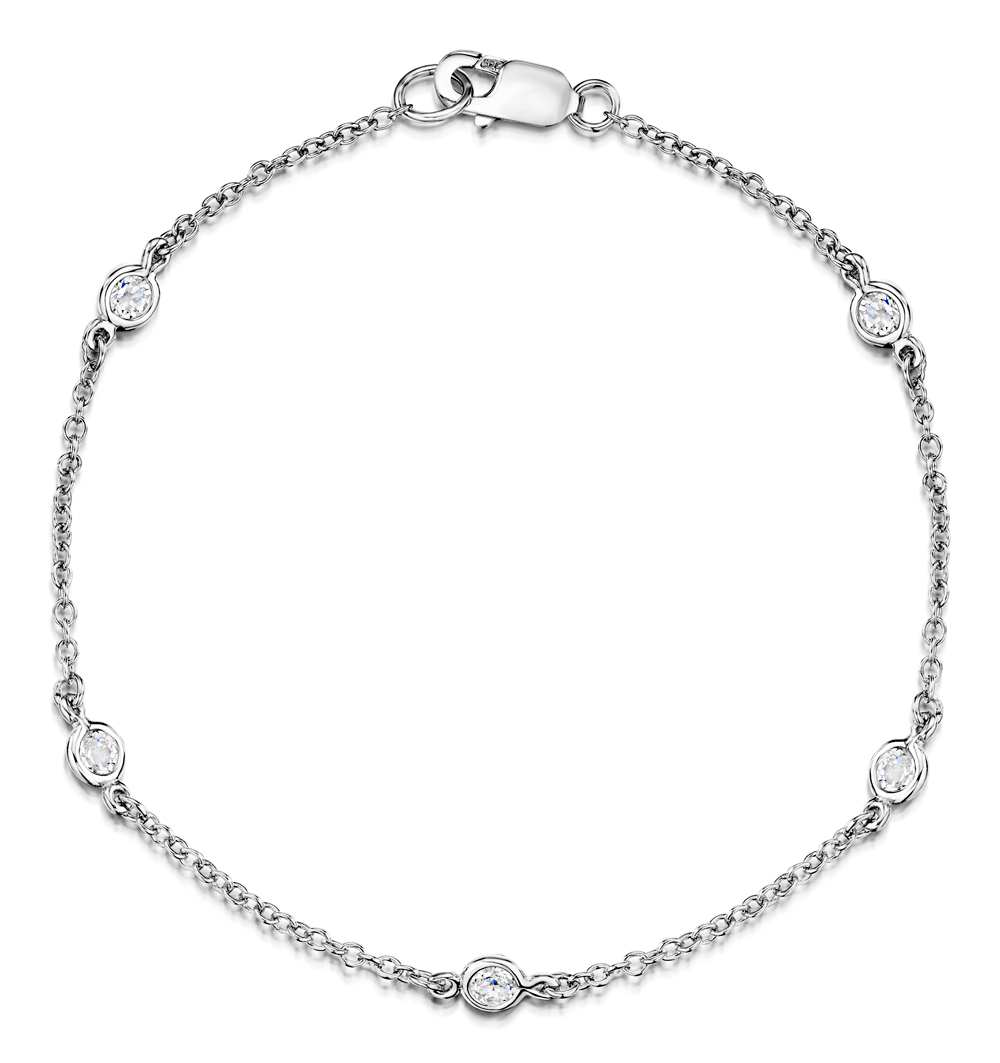 WHITE TOPAZ TESORO COLLECTION BRACELET IN 925 SILVER - UD3268