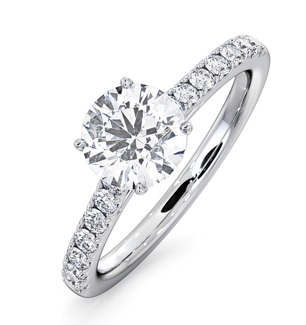 Natalia Platinum Engagement Rings