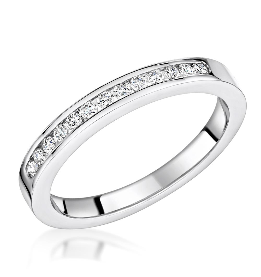 Charlotte  2.6MM Wedding Band 0.20ct  H/Si Diamonds 18KW Gold