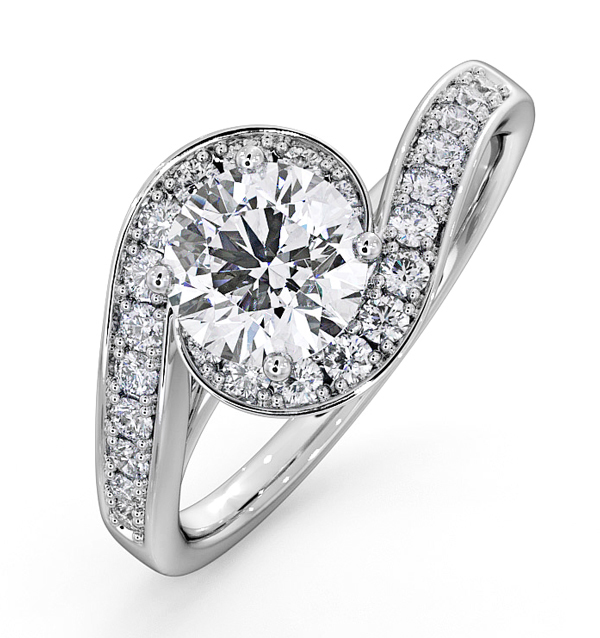 Anais Platinum Engagement Rings