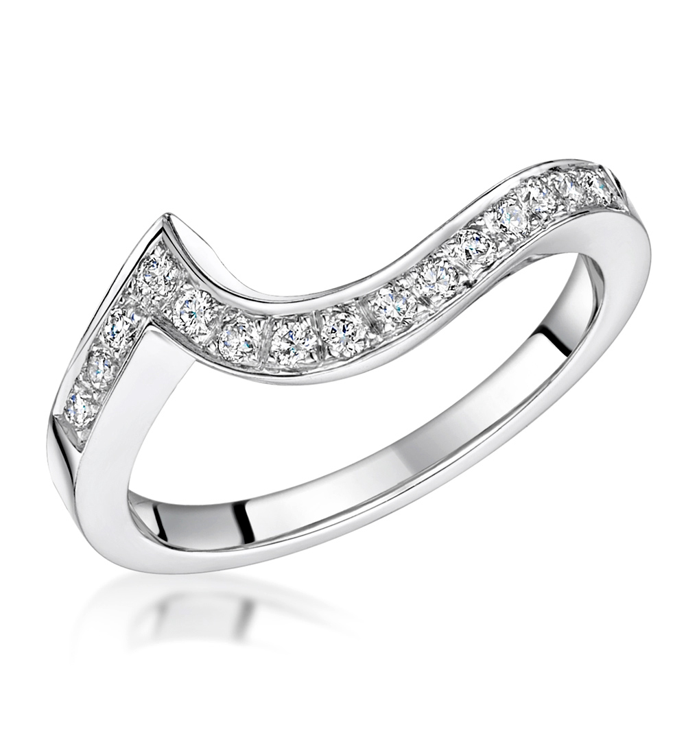 ANAIS MATCHING 2.3MM WEDDING BAND 0.20CT  H/SI DIAMONDS IN 18KW GOLD