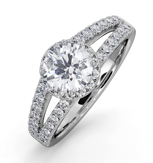 Carly Platinum Engagement Rings