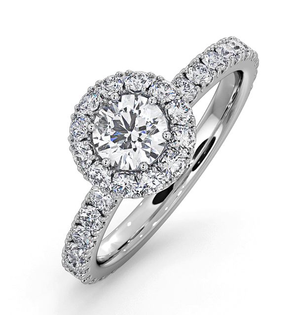 ALESSANDRA GIA DIAMOND ENGAGEMENT  RING 18KW GOLD 1.10CT G/SI2