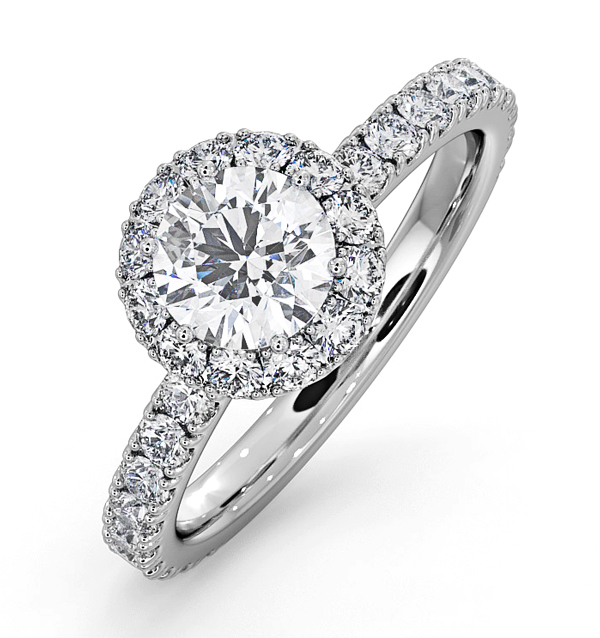 ALESSANDRA GIA DIAMOND ENGAGEMENT  RING 18KW GOLD 1.35CT G/SI2