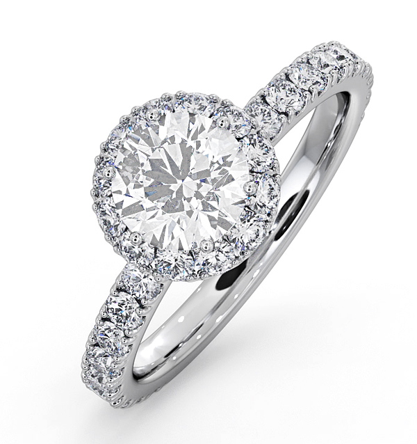 ALESSANDRA GIA DIAMOND ENGAGEMENT  RING 18KW GOLD 1.60CT G/SI2