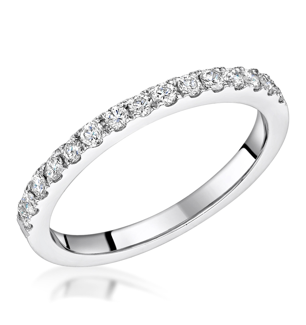 ROXY MATCHING 2MM WEDDING BAND 0.36CT H/SI DIAMONDS IN 18K WHITE GOLD
