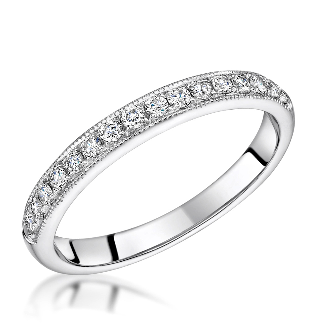 ROXY MATCHING 2MM WEDDING BAND 0.40CT H/SI DIAMONDS IN PLATINUM