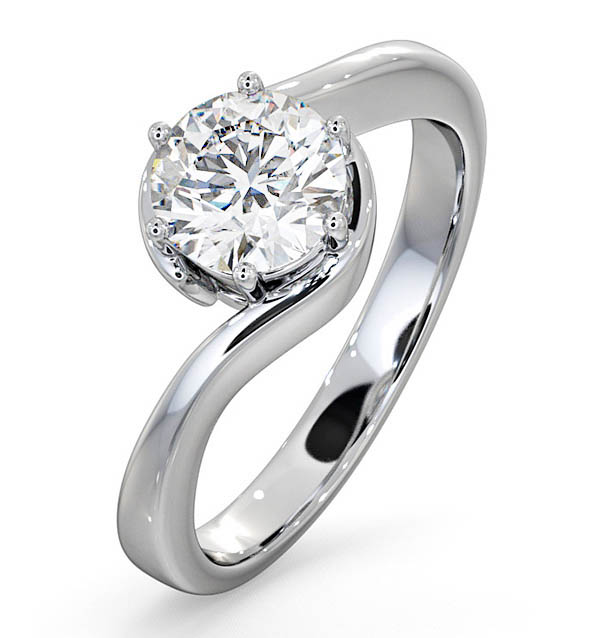 Leah Platinum Engagement Rings