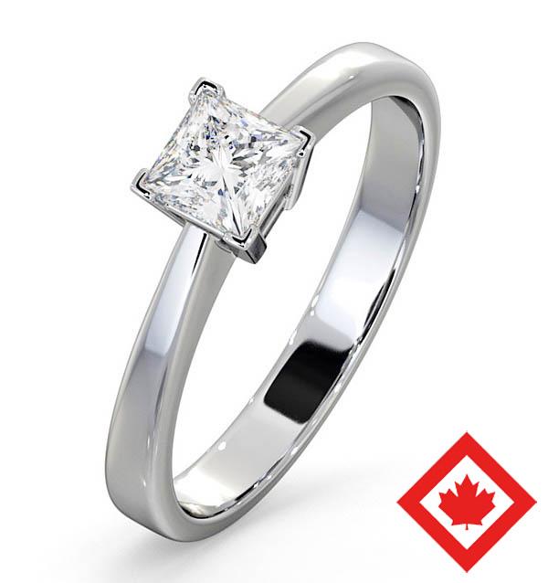 Lauren 18K White Gold Canadian Diamond Engagement Ring 0.50CT H/SI1