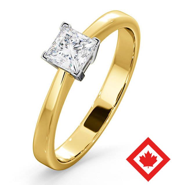 Lauren 18K Gold Canadian Diamond Engagement Ring 0.50CT H/SI2