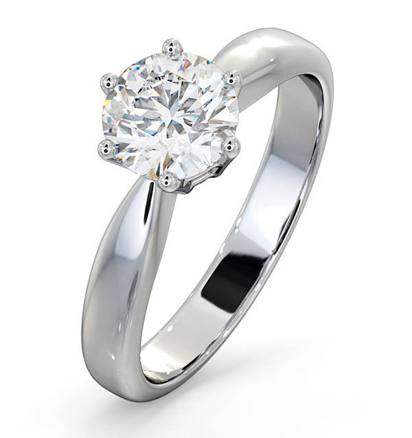 High Set Chloe Platinum Engagement Rings