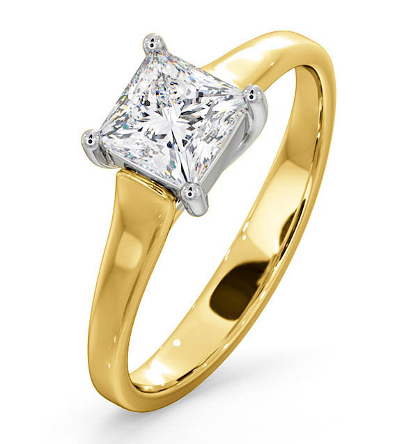 Certified Lucy 18K Gold Diamond Engagement Ring 0.75CT-F-G/VS