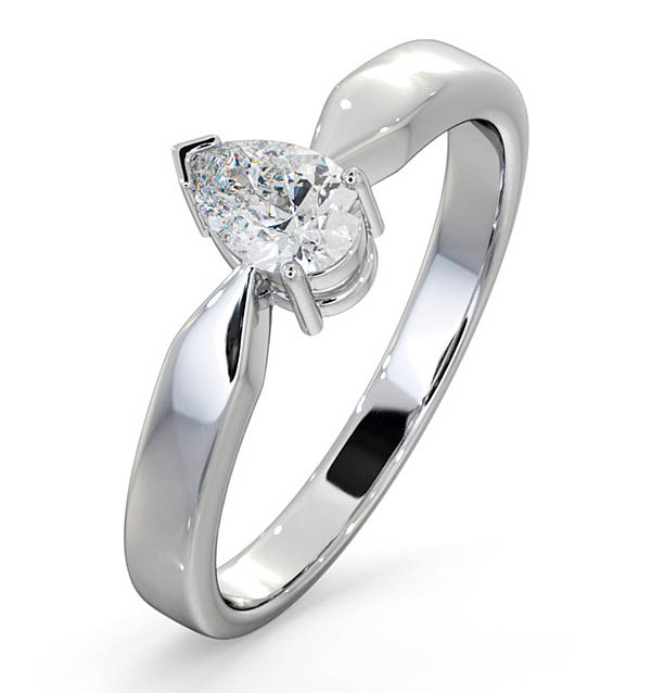 Pear Shaped Platinum Engagement Rings