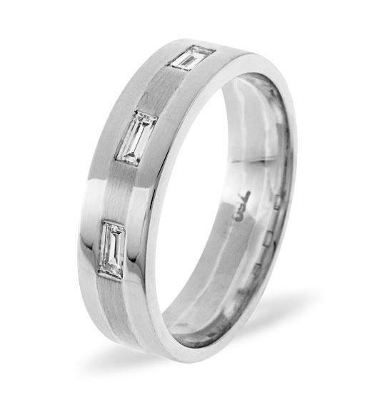 MENS 0.14CT H/SI DIAMOND PALLADIUM DRESS RING