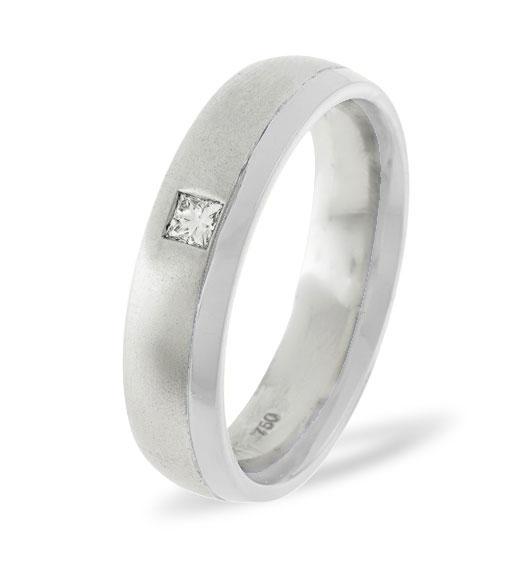 MENS 0.08CT H/SI DIAMOND PALLADIUM DRESS RING