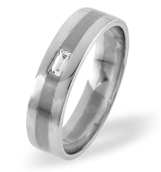MENS 0.07CT H/SI DIAMOND PALLADIUM DRESS RING