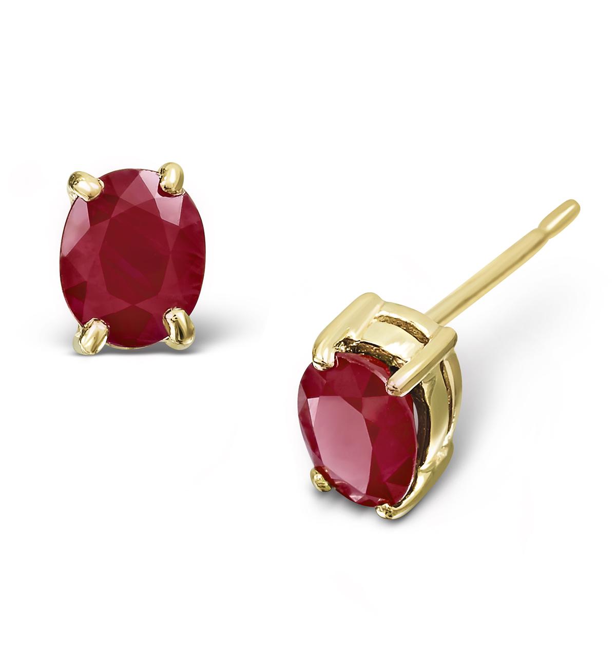 Ruby 0.73CT 9K Yellow Gold Earrings