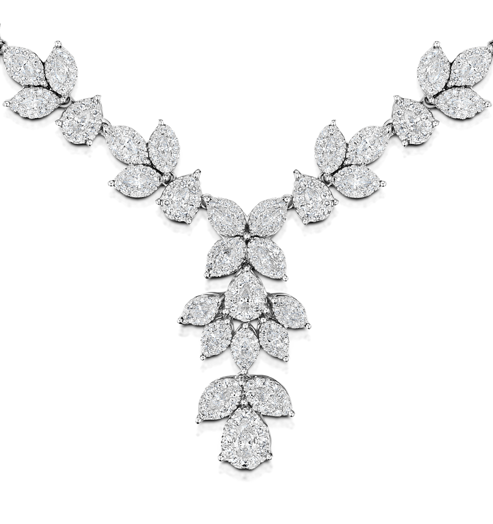 DIAMOND NECKLACE - PYRUS - 8.5CT OF H/SI DIAMONDS IN 18K WHITE GOLD