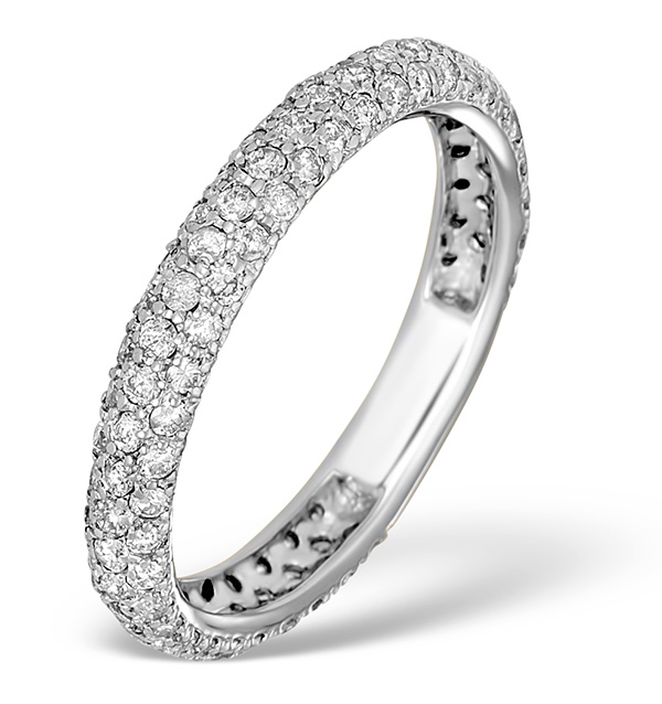 9k White Gold Diamond Full Eternity Ring 1 00ct E5213