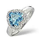 Blue Topaz Engagement Rings