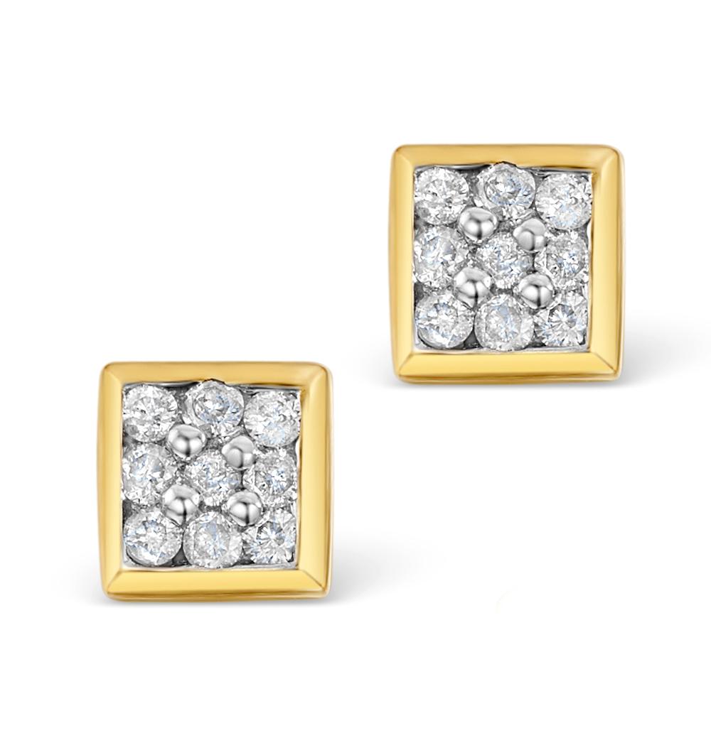 0.18CT DIAMOND STUD EARRINGS IN 9K GOLD