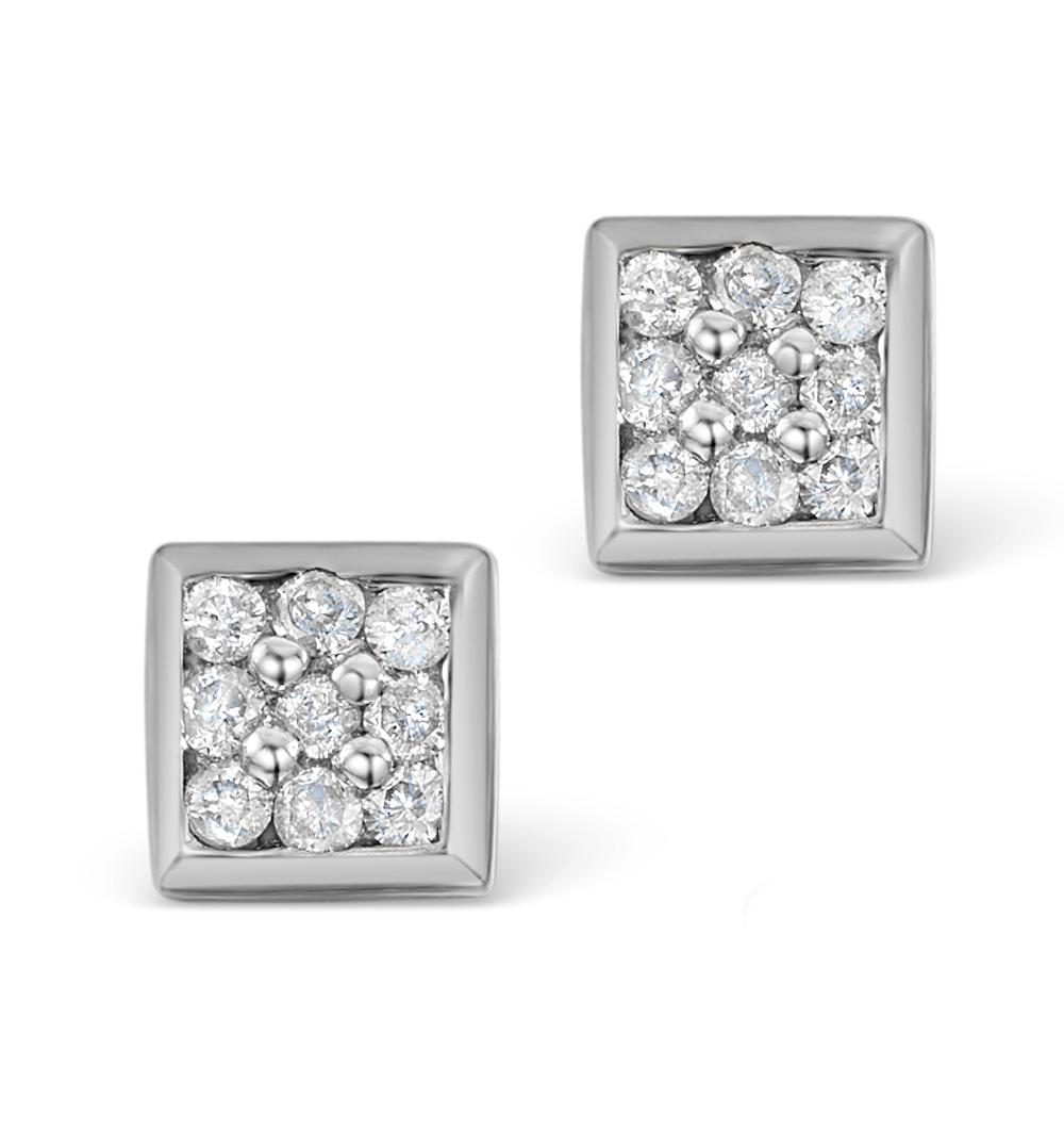 0.18CT DIAMOND STUD EARRINGS IN 9K WHITE GOLD