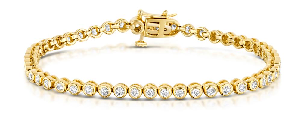 2CT PREMIUM DIAMOND TENNIS BRACELET IN 18K GOLD