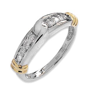 9K White Gold Diamond Channel Set Ring (0.25ct)